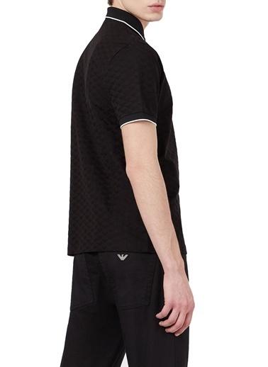 Emporio Armani  % 100 Pamuk Düğmeli Polo T Shirt Erkek Polo 8N1Fp0 1Jhwz 0999 Siyah